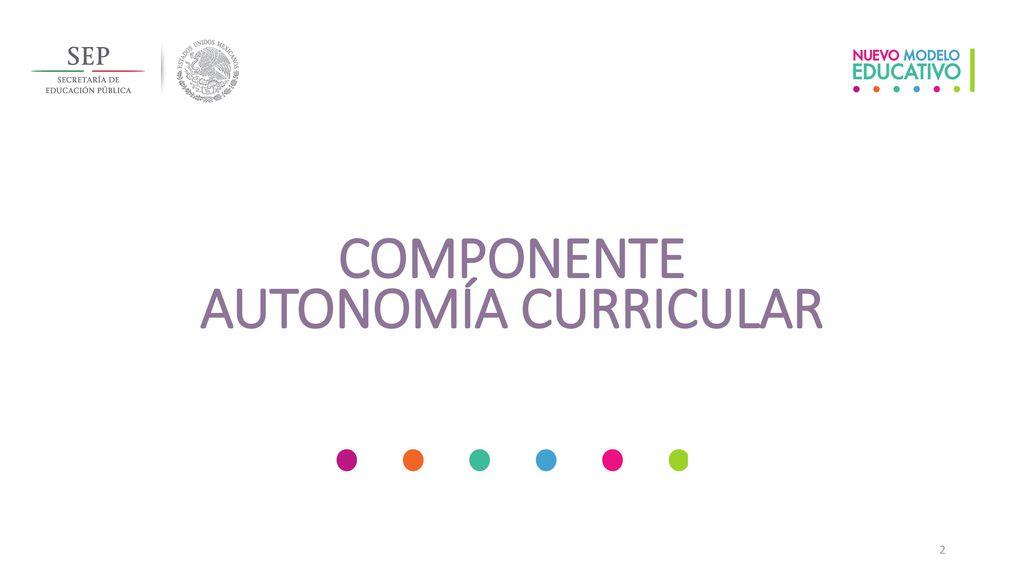 COMPONENTE AUTONOMÍA CURRICULAR