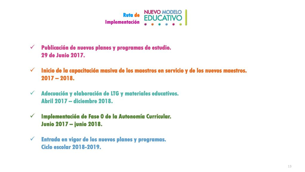 Publicación de nuevos planes y programas de estudio. 29 de Junio 2017.