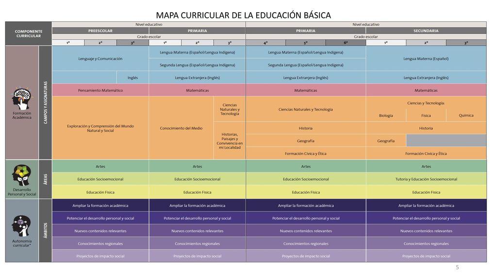 MAPA CURRICULAR DE LA EDUCACIÓN BÁSICA