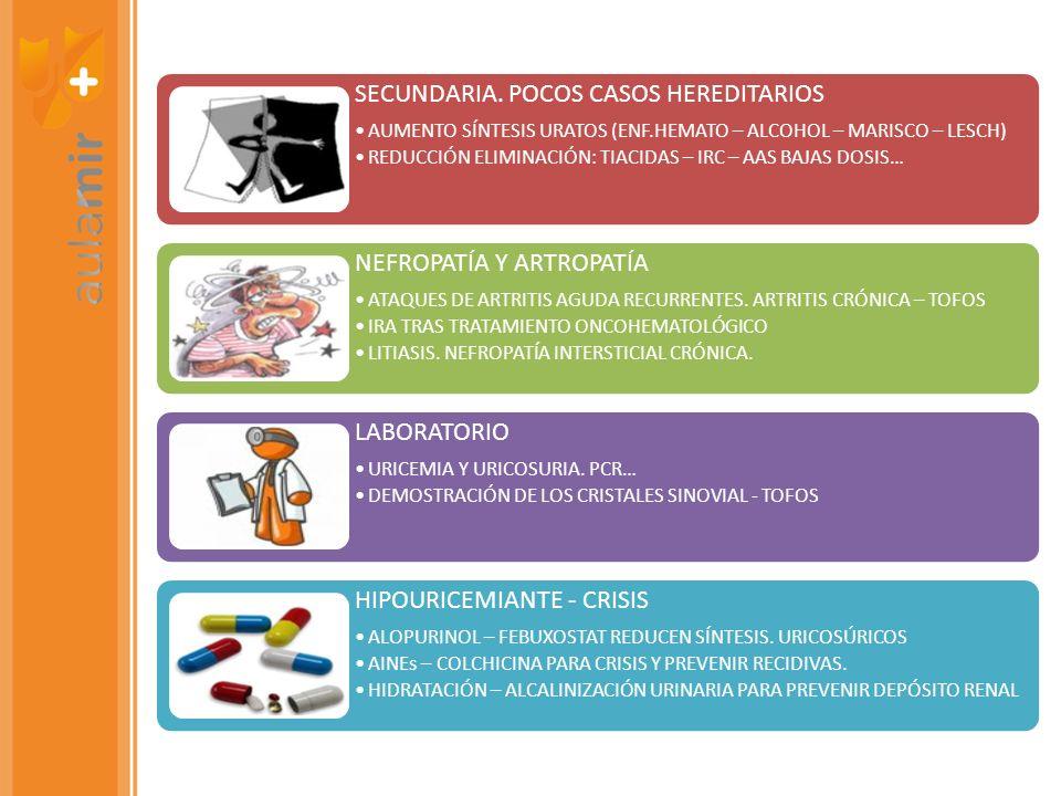 SECUNDARIA. POCOS CASOS HEREDITARIOS