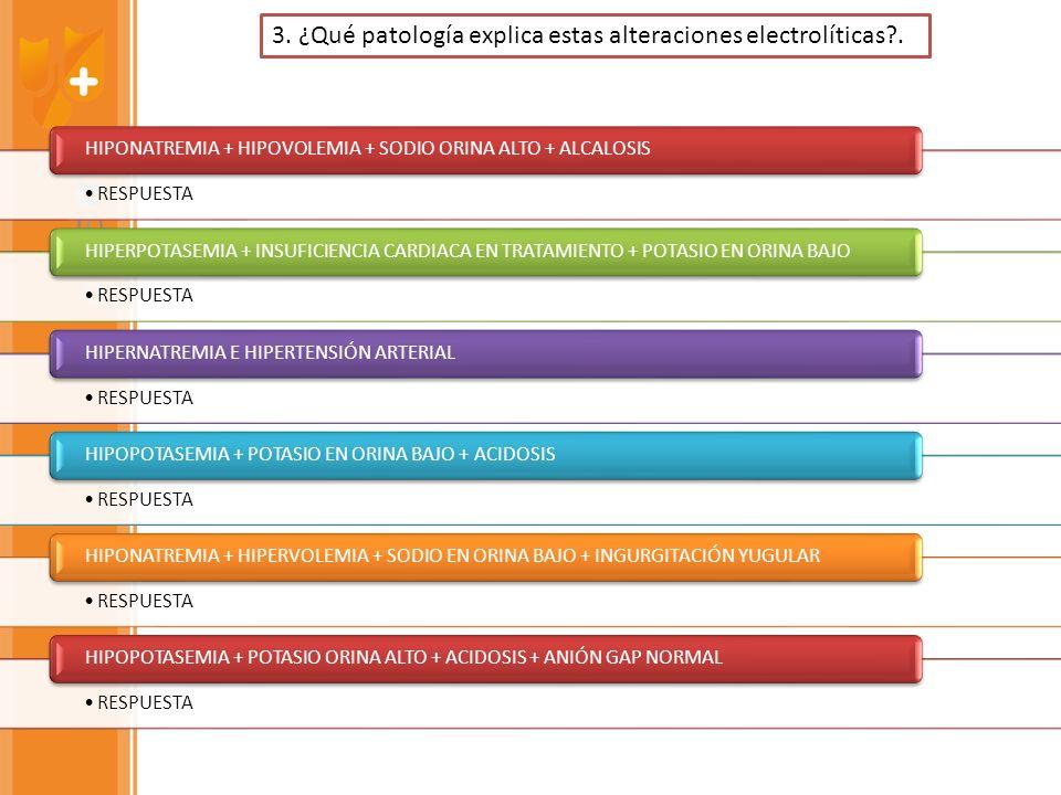 3. ¿Qué patología explica estas alteraciones electrolíticas .
