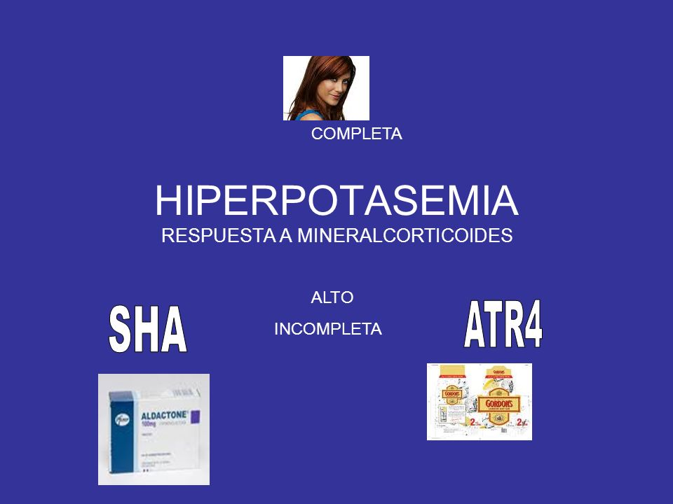 HIPERPOTASEMIA RESPUESTA A MINERALCORTICOIDES