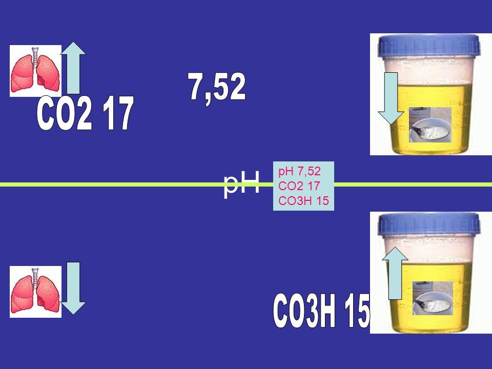 7,52 CO2 17 pH pH 7,52 CO2 17 CO3H 15 CO3H 15