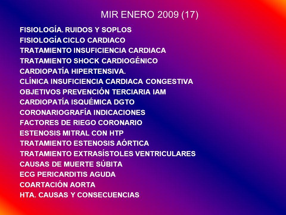 MIR ENERO 2009 (17) FISIOLOGÍA. RUIDOS Y SOPLOS