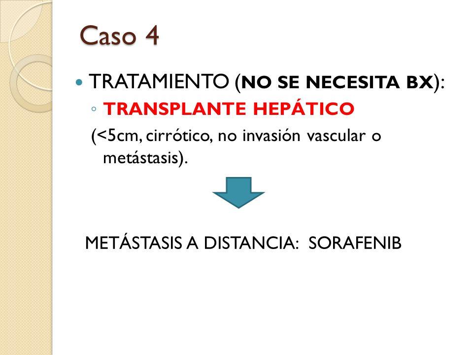 Caso 4 TRATAMIENTO (NO SE NECESITA BX): TRANSPLANTE HEPÁTICO