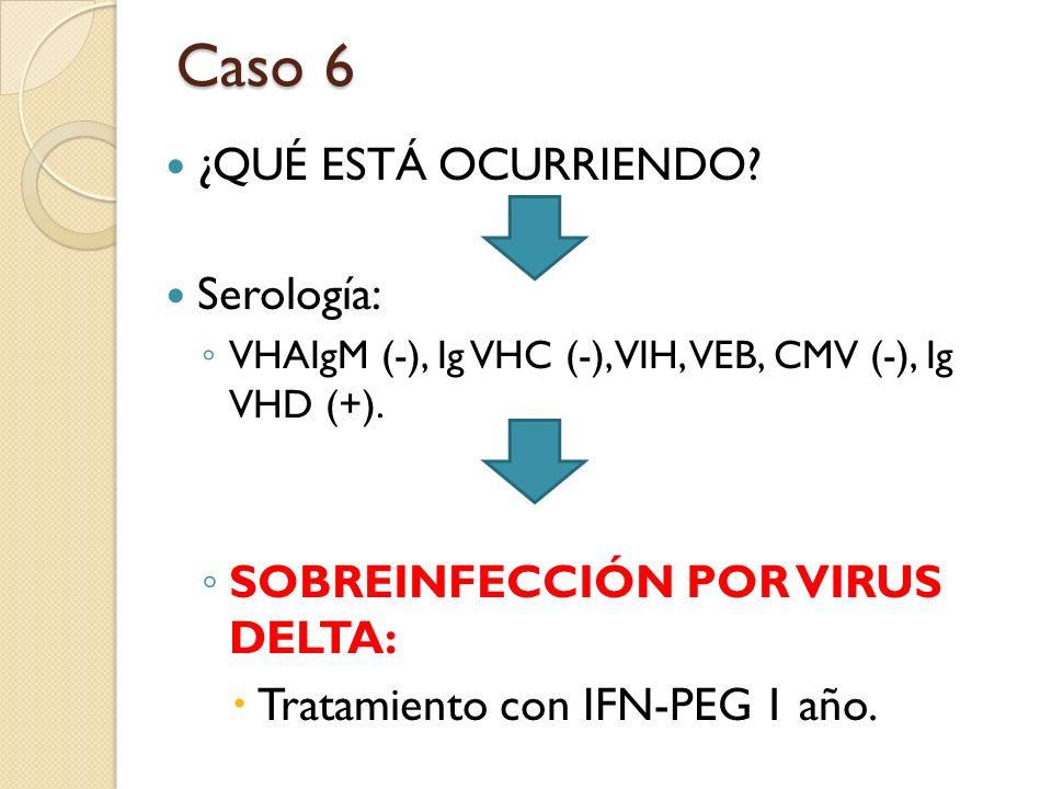 Caso 6 ¿QUÉ ESTÁ OCURRIENDO Serología:
