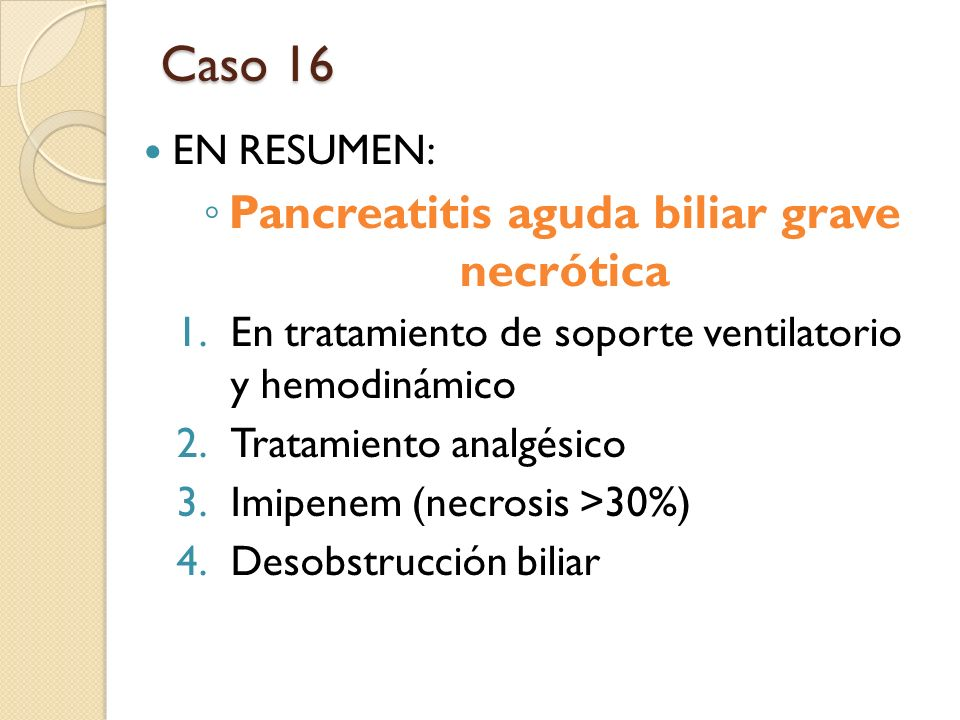 Pancreatitis aguda biliar grave necrótica