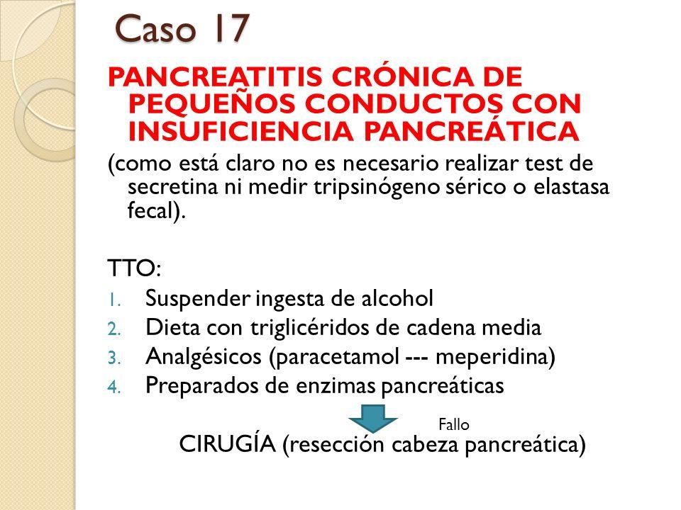 CIRUGÍA (resección cabeza pancreática)