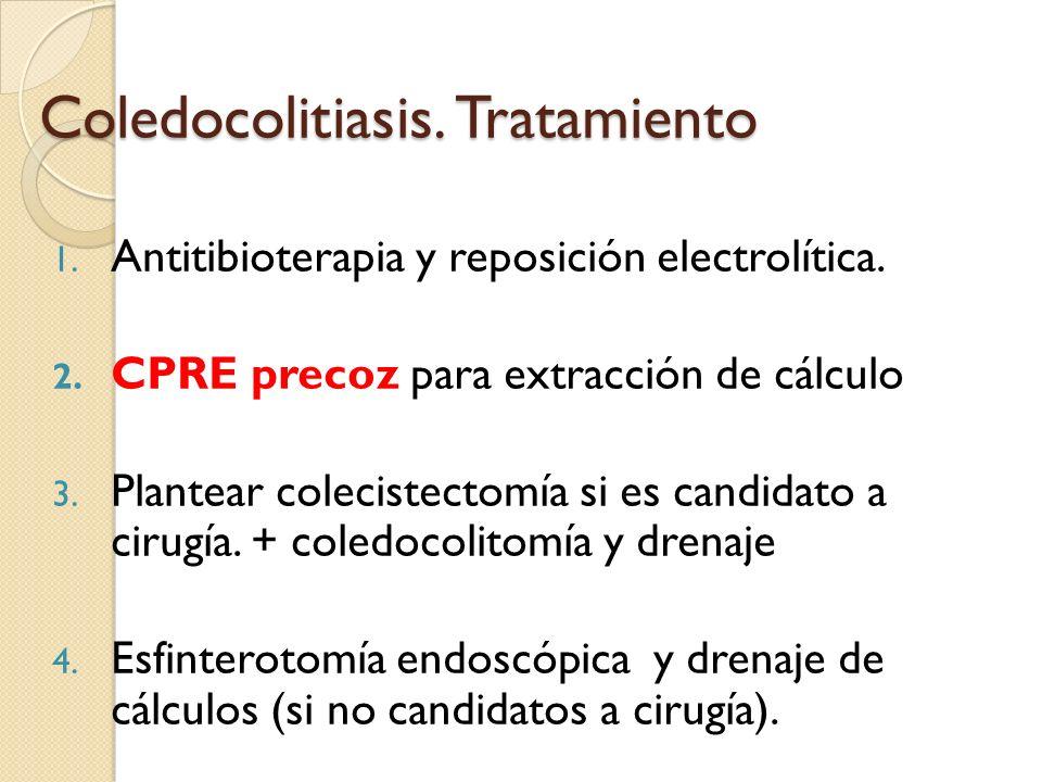 Coledocolitiasis. Tratamiento