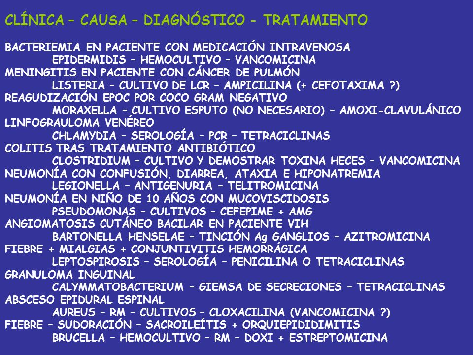 CLÍNICA – CAUSA – DIAGNÓSTICO - TRATAMIENTO