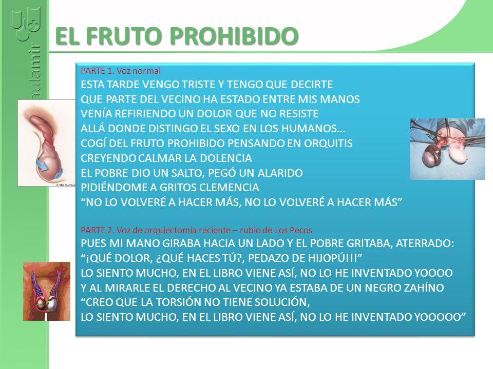 EL FRUTO PROHIBIDO ESTA TARDE VENGO TRISTE Y TENGO QUE DECIRTE