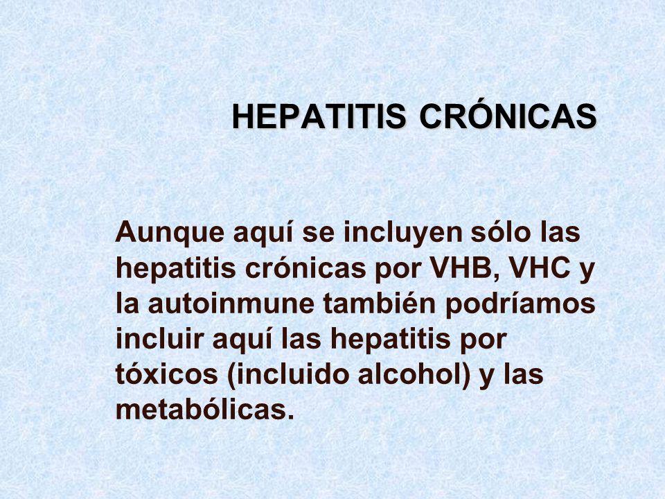 HEPATITIS CRÓNICAS