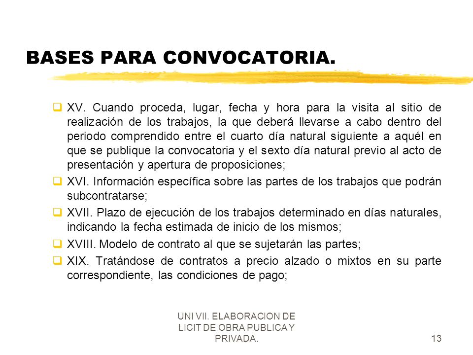 BASES PARA CONVOCATORIA.