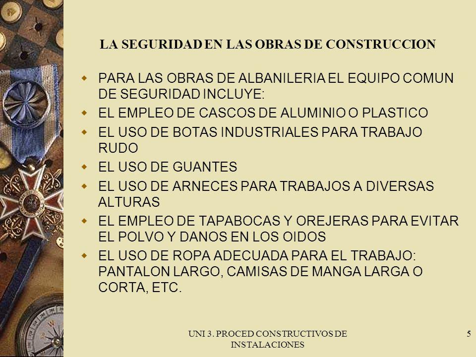 LA SEGURIDAD EN LAS OBRAS DE CONSTRUCCION