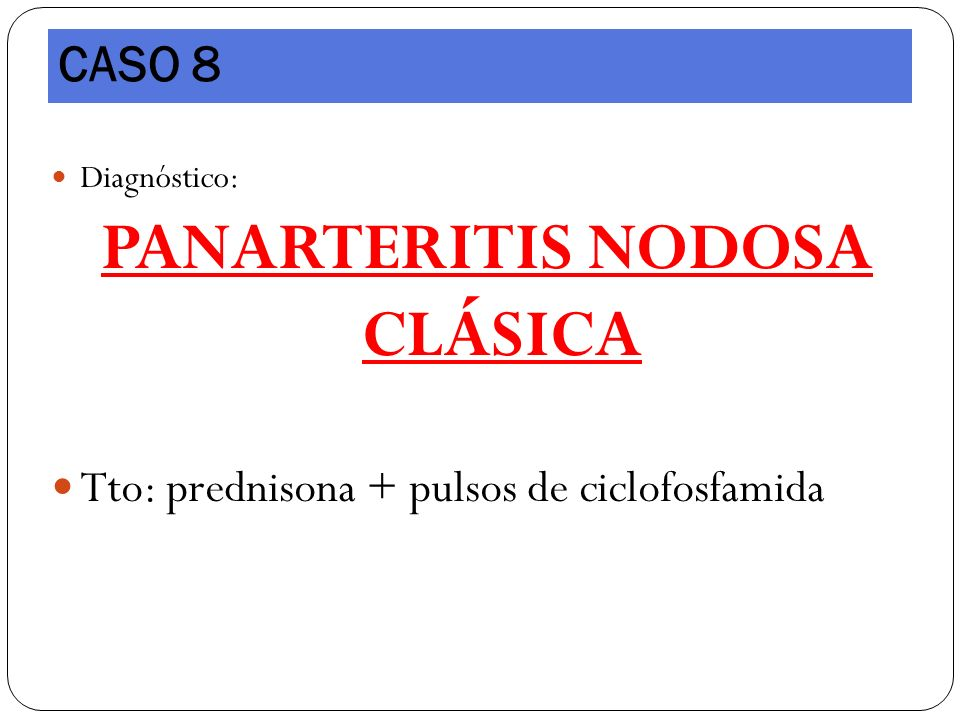 PANARTERITIS NODOSA CLÁSICA