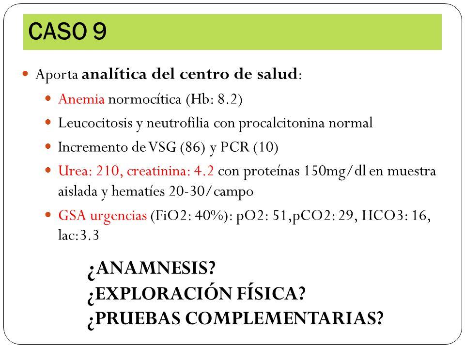 CASO 9 ¿ANAMNESIS ¿EXPLORACIÓN FÍSICA ¿PRUEBAS COMPLEMENTARIAS