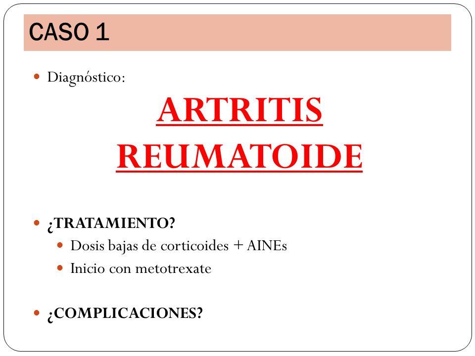 ARTRITIS REUMATOIDE CASO 1 Diagnóstico: ¿TRATAMIENTO