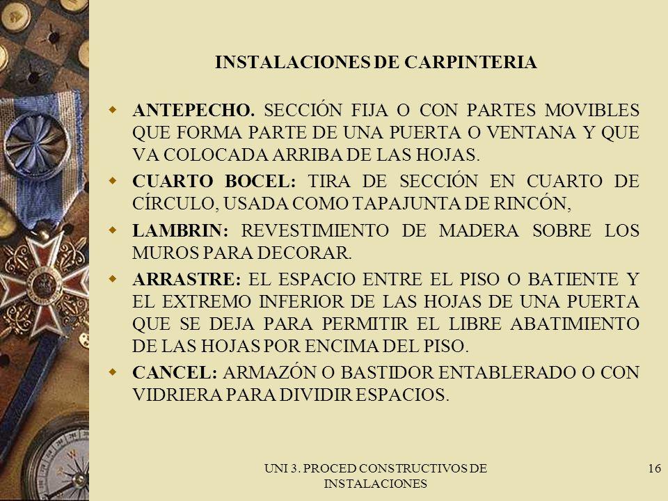 INSTALACIONES DE CARPINTERIA
