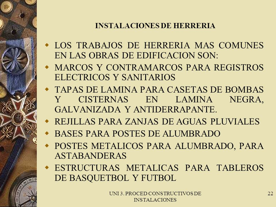 INSTALACIONES DE HERRERIA