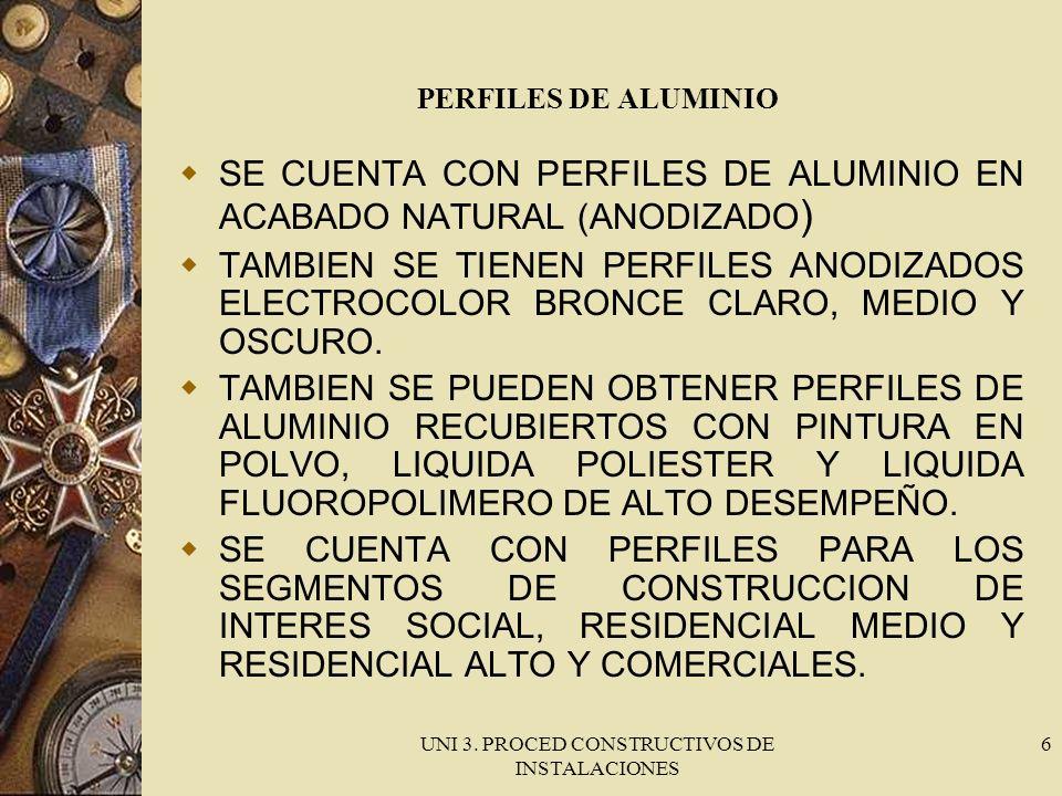 UNI 3. PROCED CONSTRUCTIVOS DE INSTALACIONES