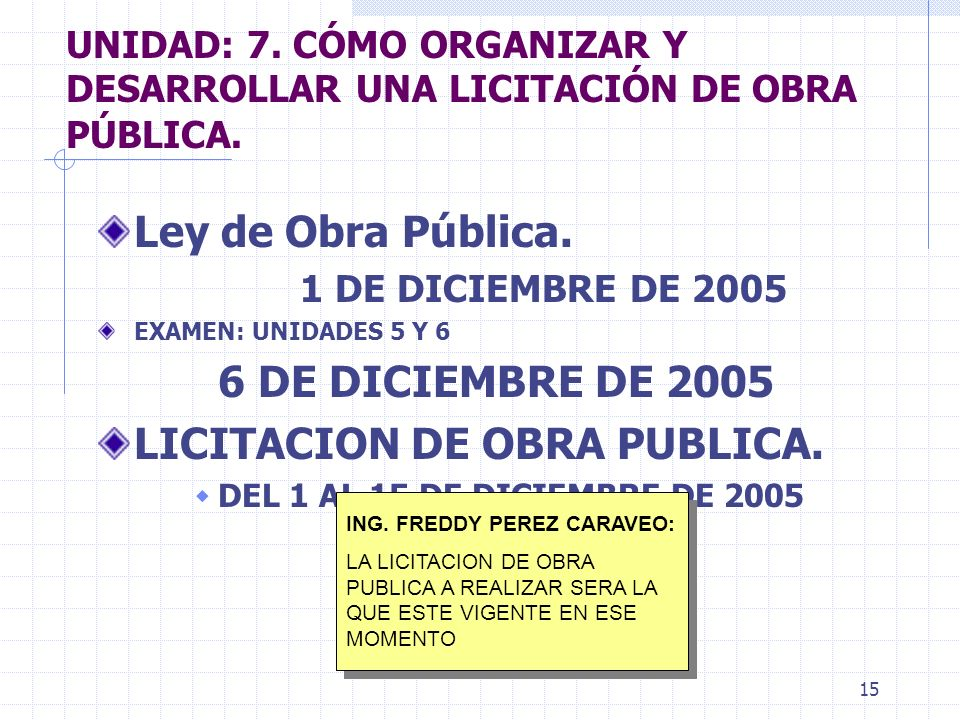 LICITACION DE OBRA PUBLICA.
