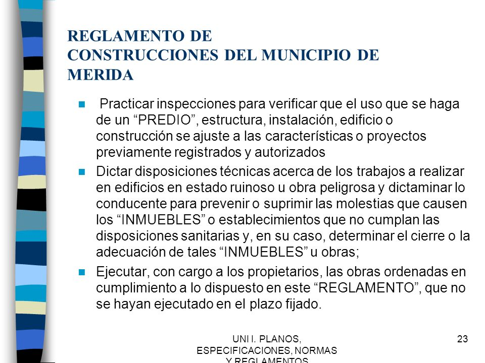 REGLAMENTO DE CONSTRUCCIONES DEL MUNICIPIO DE MERIDA