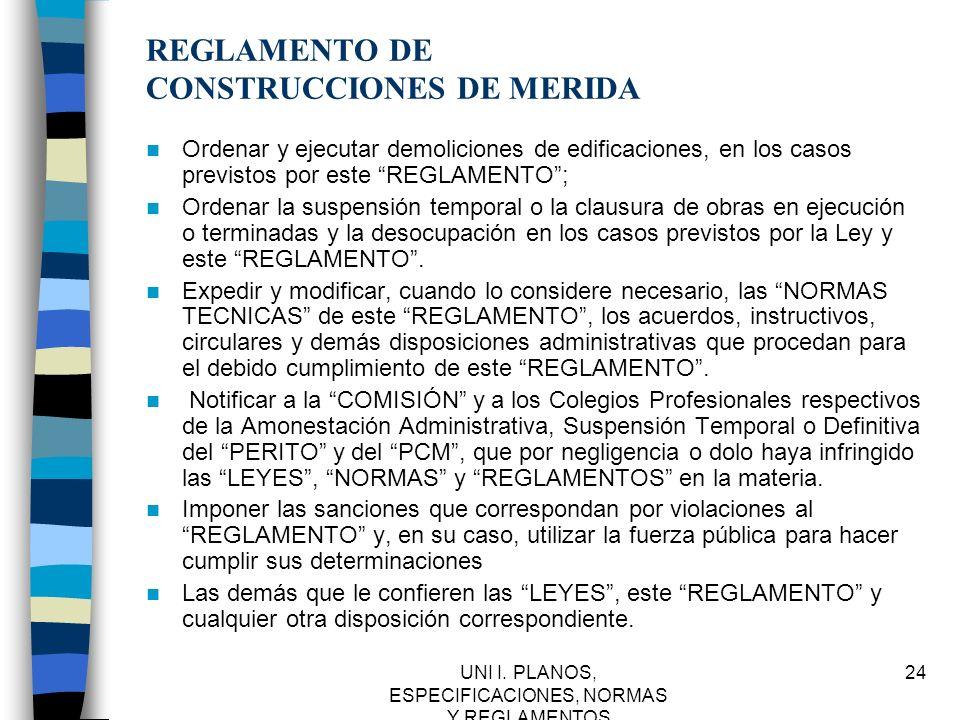 REGLAMENTO DE CONSTRUCCIONES DE MERIDA