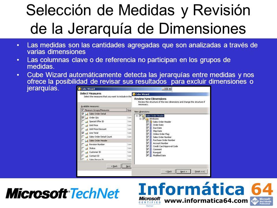 Selección de Medidas y Revisión de la Jerarquía de Dimensiones