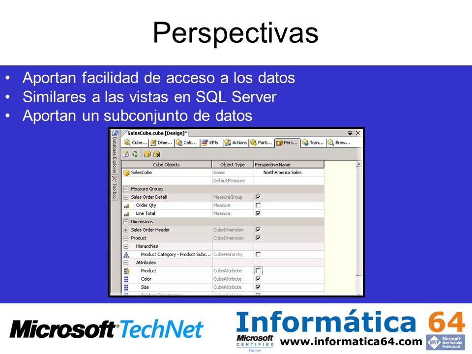 Perspectivas Aportan facilidad de acceso a los datos