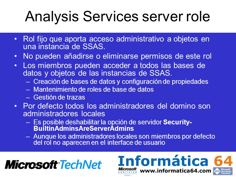 Analysis Services server role