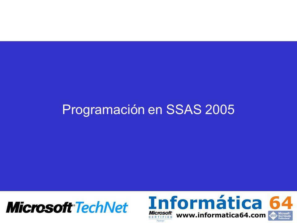 Programación en SSAS 2005