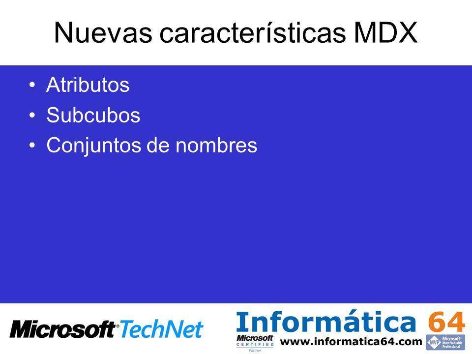 Nuevas características MDX