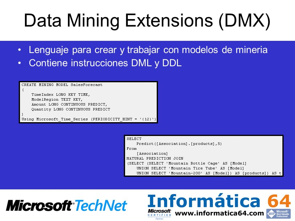 Data Mining Extensions (DMX)