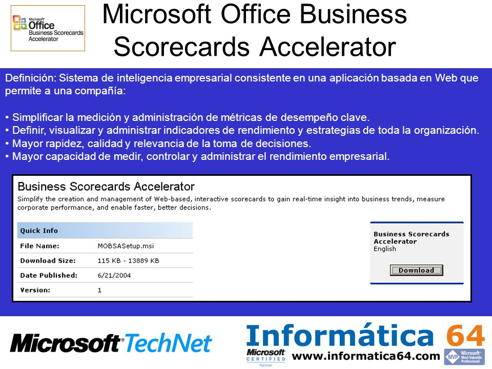 Microsoft Office Business Scorecards Accelerator
