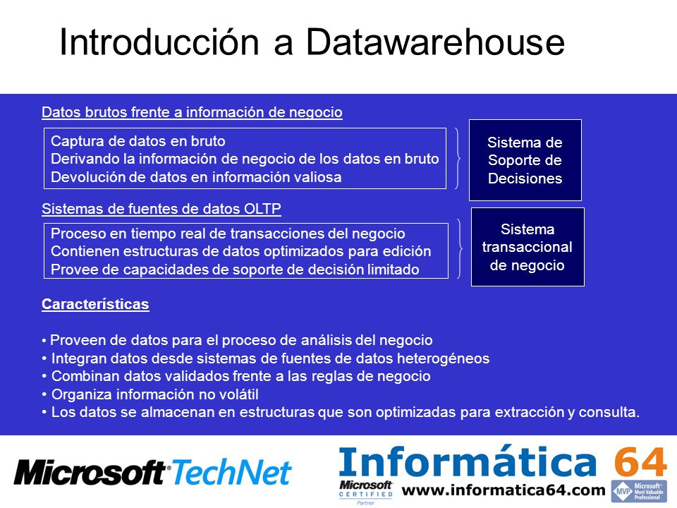 Introducción a Datawarehouse