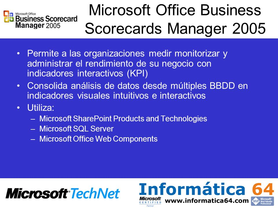 Microsoft Office Business Scorecards Manager 2005
