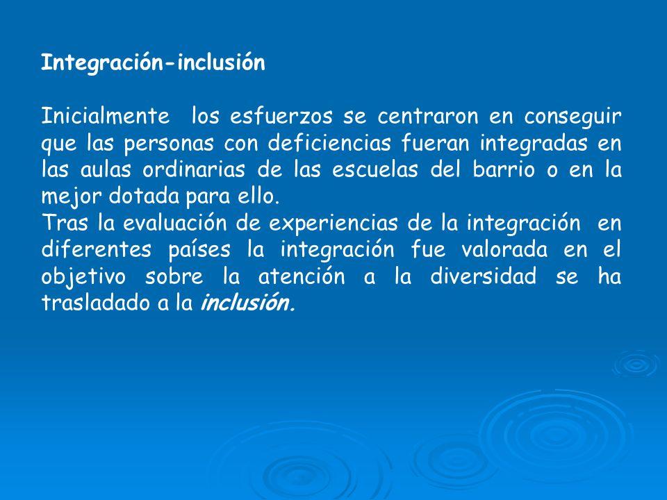 Integración-inclusión