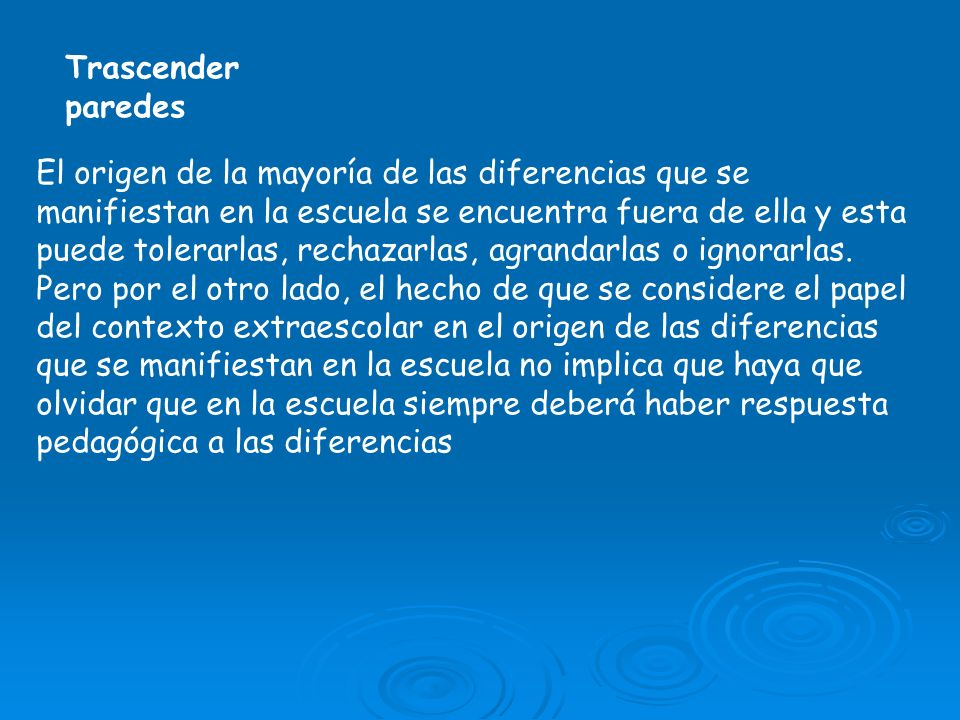 Trascender paredes