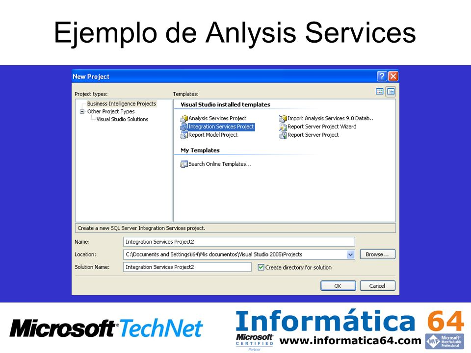 Ejemplo de Anlysis Services