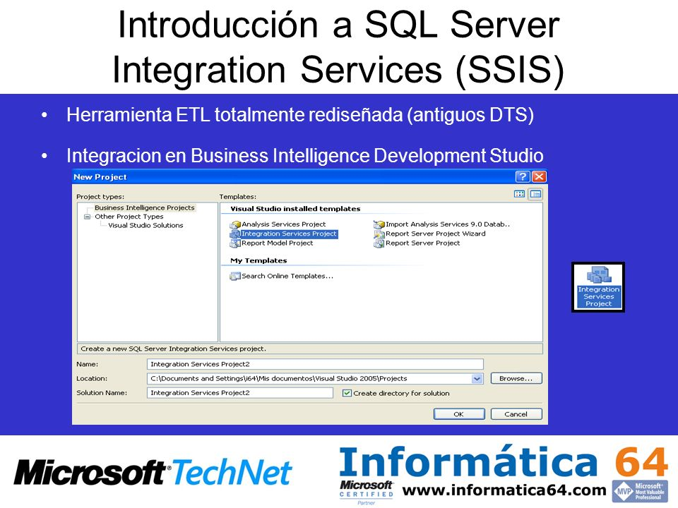 Introducción a SQL Server Integration Services (SSIS)