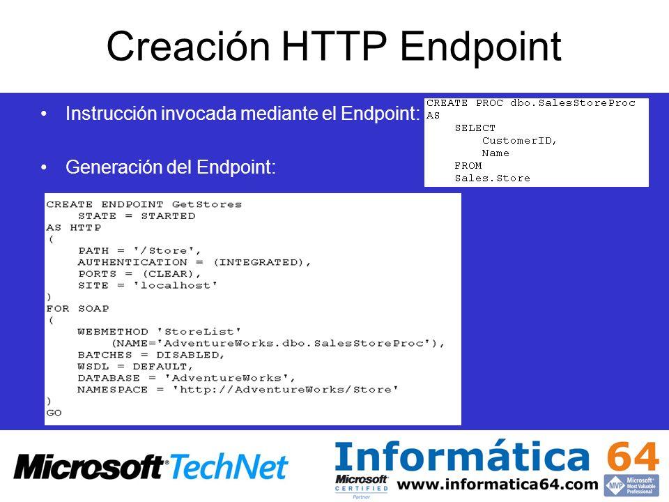 Creación HTTP Endpoint