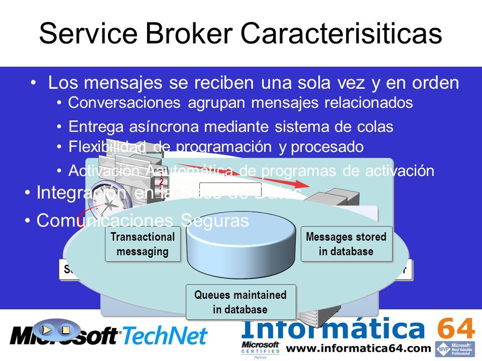 Service Broker Caracterisiticas