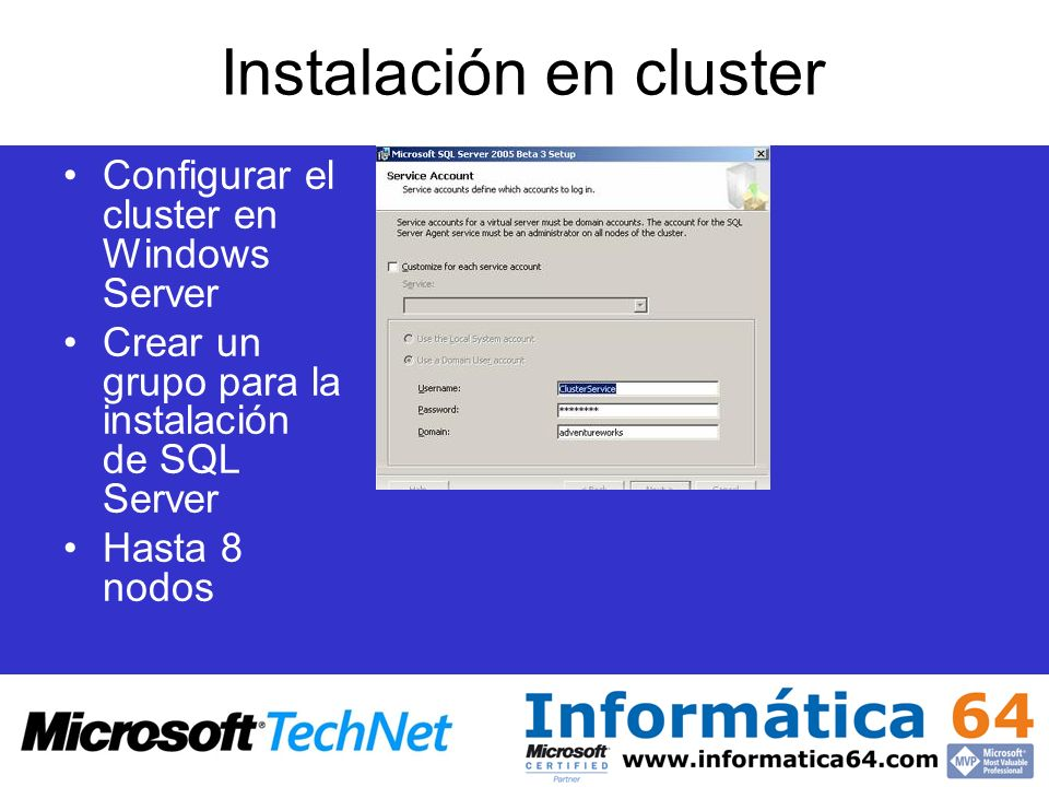 Instalación en cluster