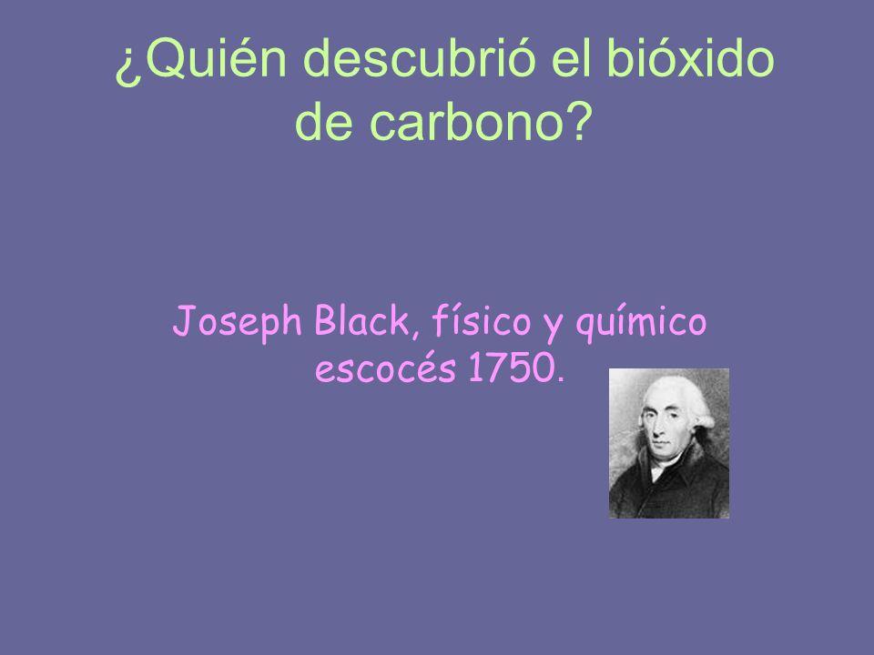 ¿Quién descubrió el bióxido de carbono