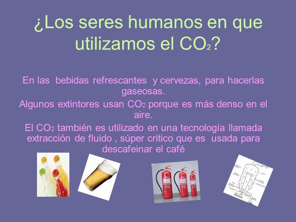 ¿Los seres humanos en que utilizamos el CO2