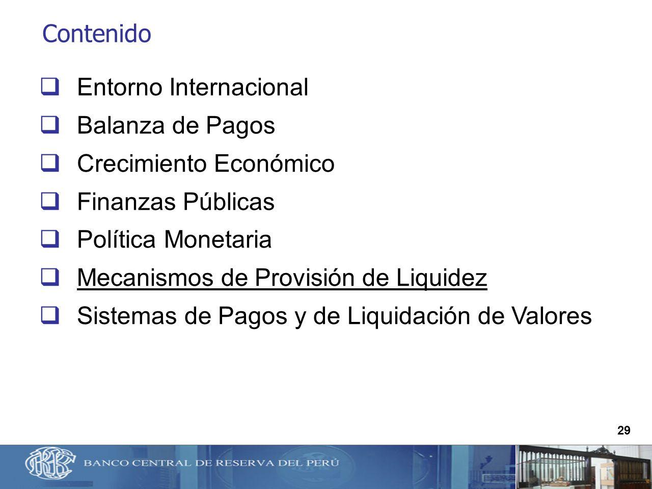 Entorno Internacional Balanza de Pagos Crecimiento Económico
