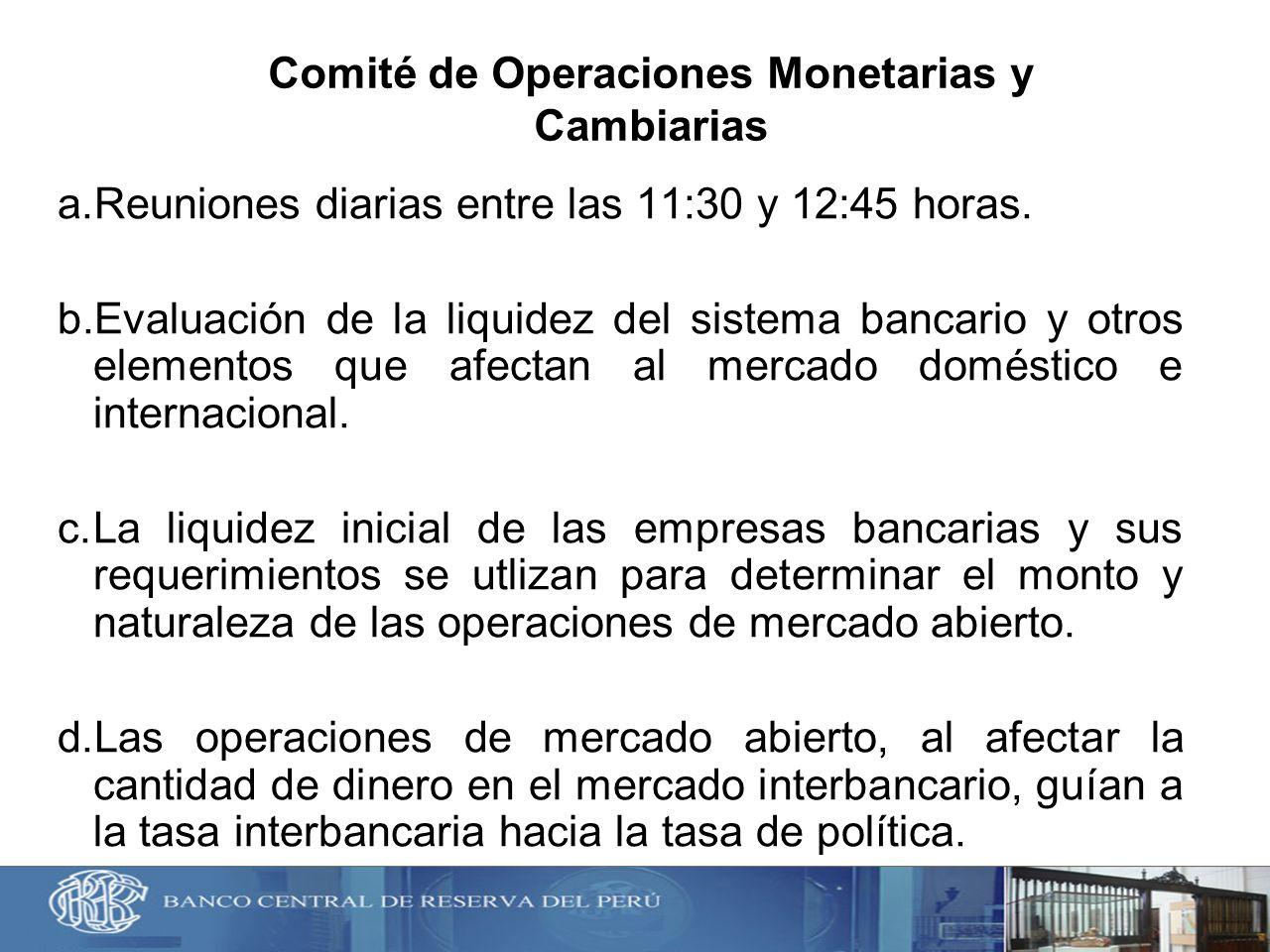 Comité de Operaciones Monetarias y Cambiarias