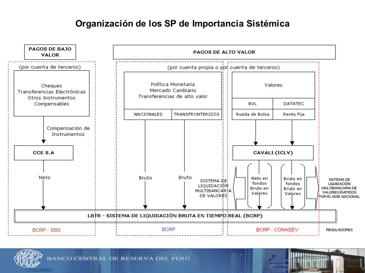 Organización de los SP de Importancia Sistémica