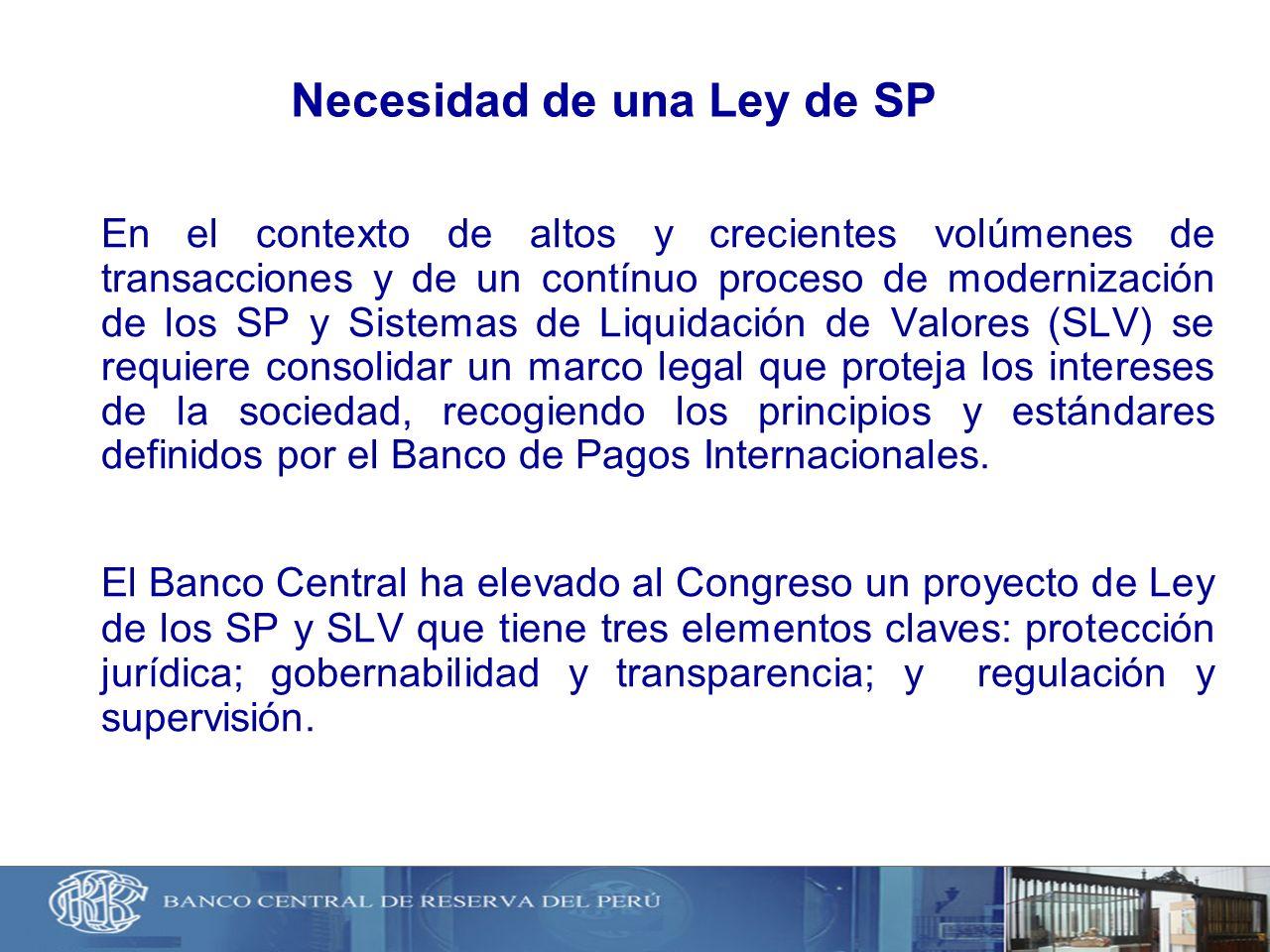 Necesidad de una Ley de SP