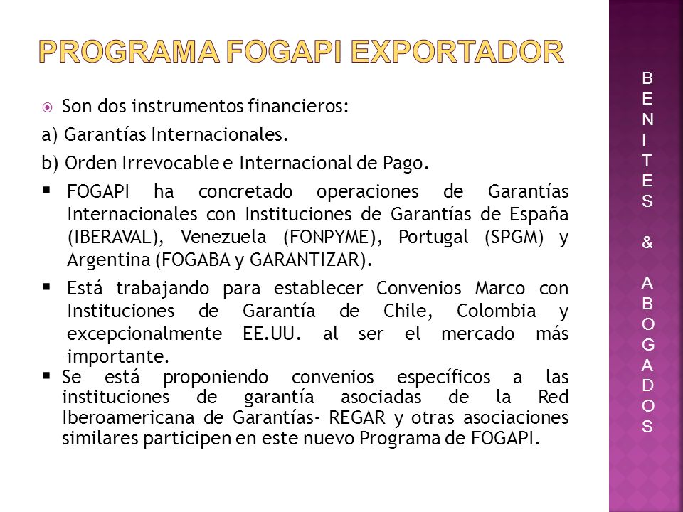 PROGRAMA FOGAPI EXPORTADOR